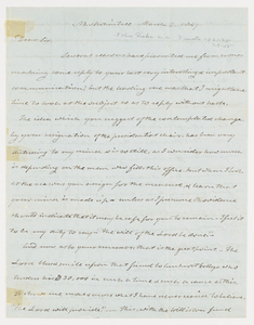 John Fiske letter to Edward Hitchcock, 1847 March 2