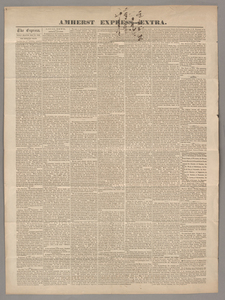 Amherst express, extra, 1858 May 21