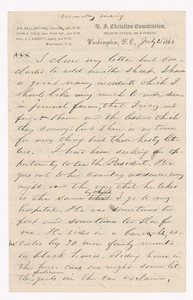 Sidney Brooks letter to an unknown recipient, 1864 July 25