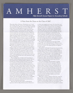Amherst College annual report to secondary schools, 2003