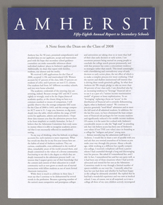 Amherst College annual report to secondary schools, 2004