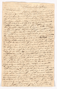 Sidney Brooks letter to Obed Brooks, Jr., 1837 November 29