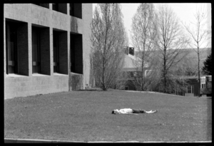 Photographs of students outside on campus, 1973 April 20