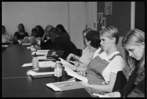 Photographs of class taught by Jeffrey Ferguson in session, 1988 October