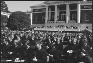 Photographs of the 145th Commencement ceremony and related protest, 1966 June 3