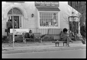 Photographs of people on campus, in Amherst, and at UMass, 1973 April 7