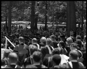 Photographs of the 152nd Commencement processional and ceremony, 1973 June 1