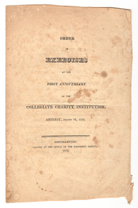 Amherst College Commencement program, 1822 August 28