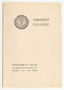 Amherst College Commencement program, 1924 June 18