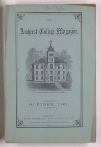 The Amherst College magazine, 1861 October
