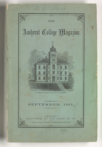 The Amherst College magazine, 1861 September