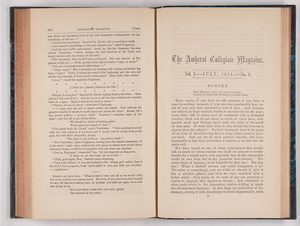 The Amherst collegiate magazine, 1854 July