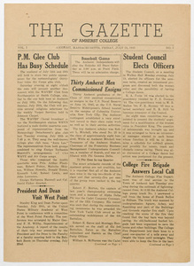 The gazette of Amherst College, 1943 July 23