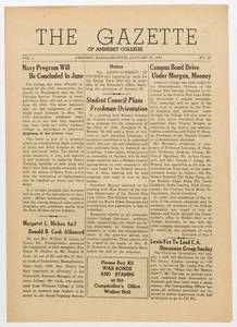 The gazette of Amherst College, 1944 January 21