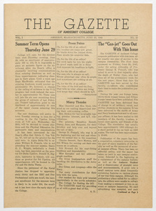 The gazette of Amherst College, 1944 June 23