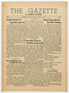 The gazette of Amherst College, 1944 April 14