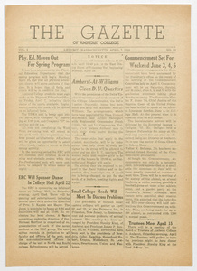 The gazette of Amherst College, 1944 April 7