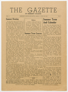 The gazette of Amherst College, 1943 June 25