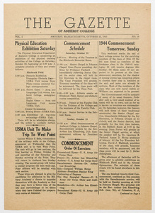 The gazette of Amherst College, 1943 October 22