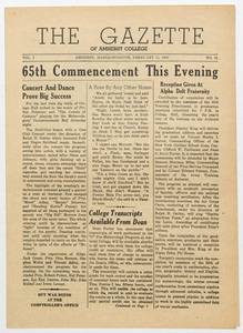 The gazette of Amherst College, 1944 February 11