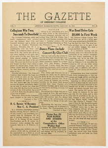 The gazette of Amherst College, 1944 January 28
