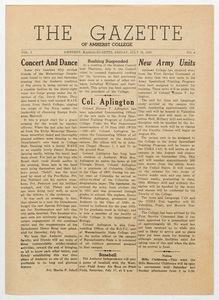 The gazette of Amherst College, 1943 July 16