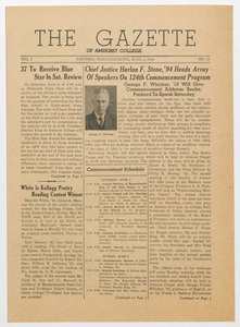 The gazette of Amherst College, 1944 June 2