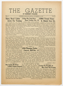 The gazette of Amherst College, 1943 November 30
