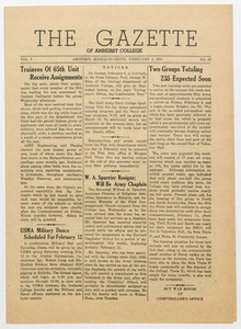 The gazette of Amherst College, 1944 February 4