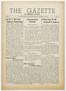 The gazette of Amherst College, 1943 October 15