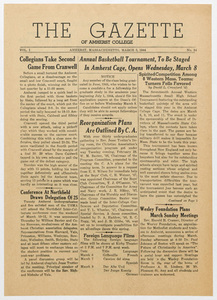 The gazette of Amherst College, 1944 March 3