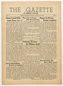 The gazette of Amherst College, 1944 January 14