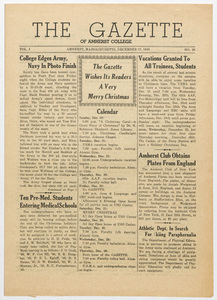 The gazette of Amherst College, 1943 December 17