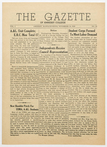The gazette of Amherst College, 1943 November 19