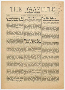 The gazette of Amherst College, 1943 October 29