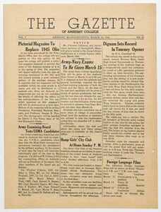 The gazette of Amherst College, 1944 March 10