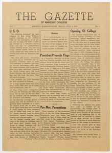 The gazette of Amherst College, 1943 July 2