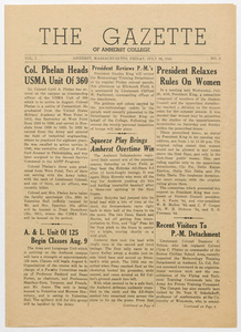 The gazette of Amherst College, 1943 July 30