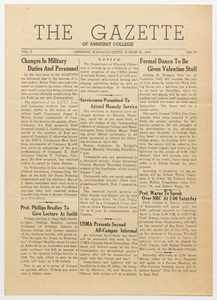 The gazette of Amherst College, 1944 March 31