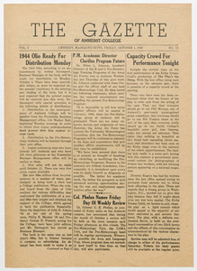The gazette of Amherst College, 1943 October 1