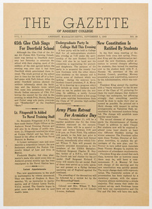 The gazette of Amherst College, 1943 November 5