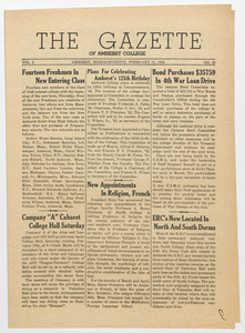 The gazette of Amherst College, 1944 February 18