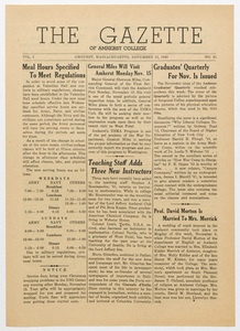 The gazette of Amherst College, 1943 November 12