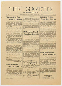 The gazette of Amherst College, 1944 February 25