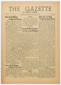 The gazette of Amherst College, 1944 January 7