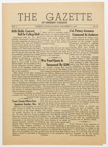 The gazette of Amherst College, 1943 December 10