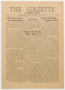 The gazette of Amherst College, 1943 August 6