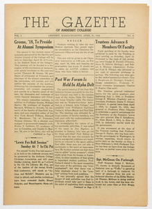 The gazette of Amherst College, 1944 April 21