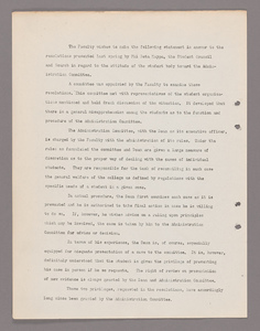Amherst College faculty meeting minutes 1921/1922