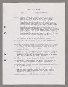 Amherst College faculty meeting minutes and Committe of Six meeting minutes 1954/1955